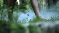 Bare Feet Of A Young Woman video