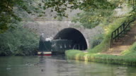Barge Going Through A Canal Tunnel video