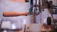 Barista making a cup of coffee video
