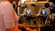 Barista Making Coffee (4K/UHD to HD) video