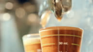 Barista making espresso coffee Preparation video