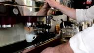 Barista preparing espresso video