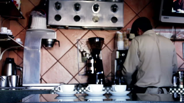 Barista serving coffee video