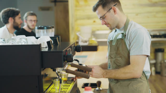 Barista Steams Milk video