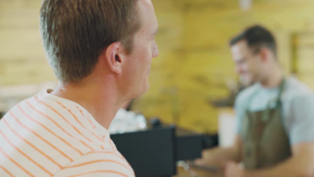 Barista Talks With Customer video