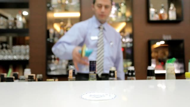 Barman is making cocktail video