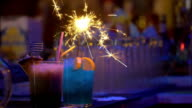 Barman making presentation of cocktails video