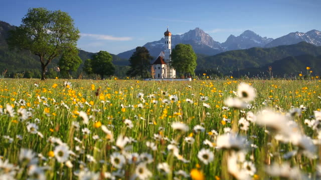 Baroque St. Coloman church near Schwangau (Bavaria) video