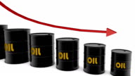 HD: Barrels And Arrow Showing Oil Price video
