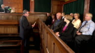 Barrister addresses the Jury in a Court - Two Shots video