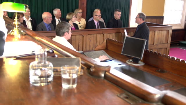Barrister addressing the Jury in Court (Courtroom) video
