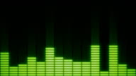 EQ Bars with Alpha Channel GREEN video