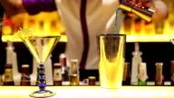 HD: Bartender mixing beverage for drink video