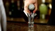 Bartender Serves Whiskey Shot video