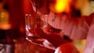 Bartender Serving drinks video