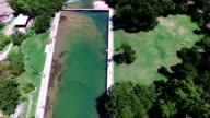 Barton Springs Pool a Natural Cold Spring Relaxing Swimming Pool of Austin Texas Close up of Pool video
