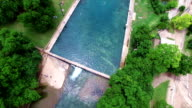 Barton Springs Pool Amazing Clear Turquoise Blue Cold Springs Pool Aerial of Austin's Hidden Treasure video