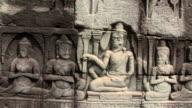 Bas Reliefs Sculpture Angkor Wat, Cambodia video