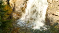 Base of Linville Falls with Water Splashing in Autumn video