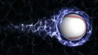 Baseball Ball in Blue Abstract Particles Ring, Loop video