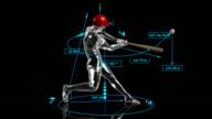 3D baseball batter video
