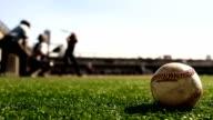 Baseball Hit-Pâte liquide frapper le ballon au ralenti - Vidéo