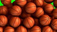 Basket balls transition effect video