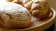 Basket full of bagels and bread video