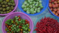 Basket with vegetables video