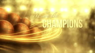 Basketball Background (Gold, with Text) - Loop video