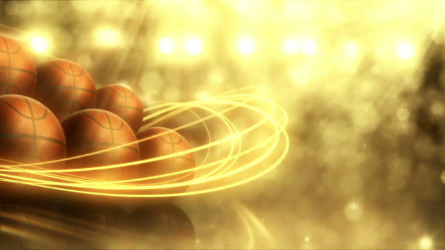 Basketball Background (Gold, with Copy Space) - Loop video