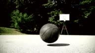 HD SLOW MOTION: Basketball Bouncing video