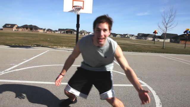 Basketball defense POV video