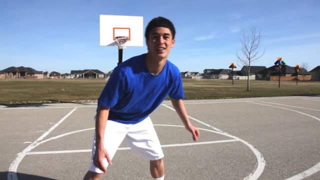 Basketball defense, POV video