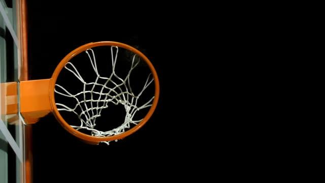 Basketball Going Through A Net video