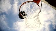 HD SUPER SLOW-MO: Basketball Going Through The Net video