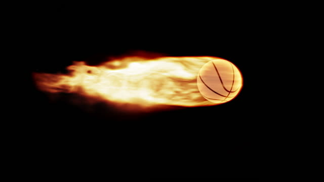 Basketball in flames video