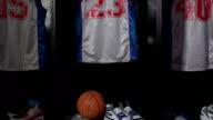 Basketball locker / changing room Ball, CRANE HD (Sport uniform) video
