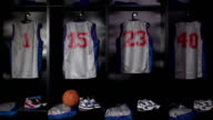 Basketball locker / changing room - DOLLY HD video
