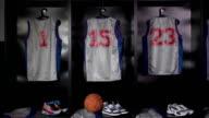 Basketball locker / changing room - DOLLY Towards (Sport uniform) video