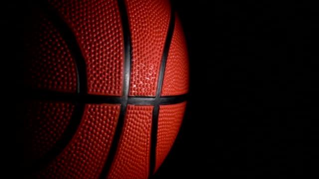 Basketball loop on black - HD video