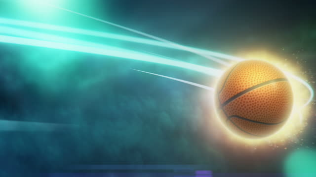 Basketball on Fire with Light Strokes video