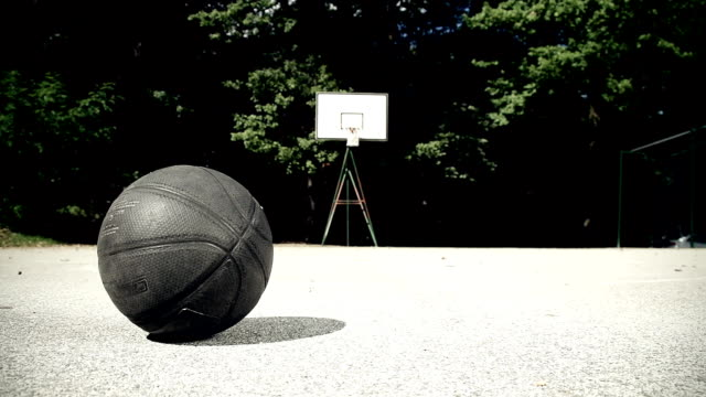 HD DOLLY: Basketball On The Playing Field video