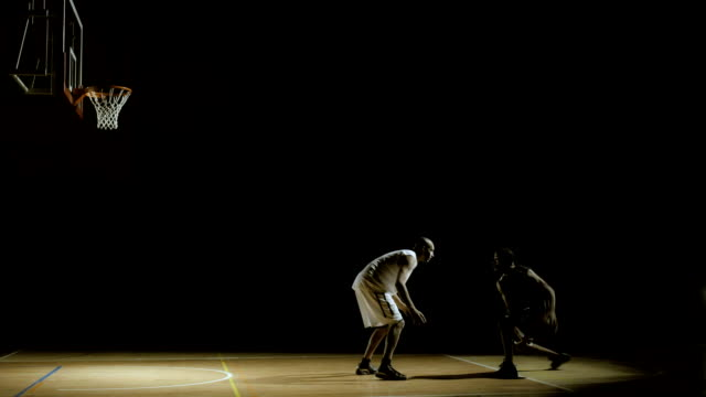 Basketball Player Performs Dribbling Penetration video