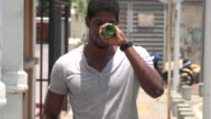 Basketball Player with Beer video