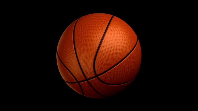 Basketball rotating loop isolated with luma matte zg video