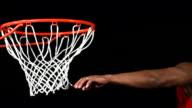 Basketball slam dunk, slow motion video