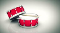 Bass drum isolated. 3D rendering video