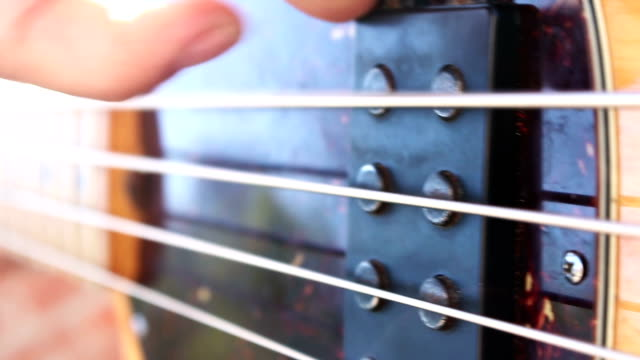 Bass guitar player video