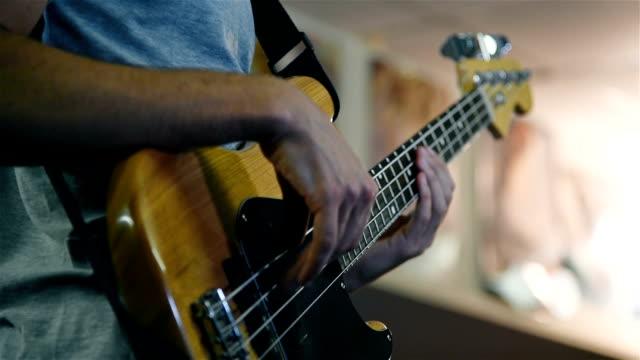 Bass Guitarist Plays Rock Music video